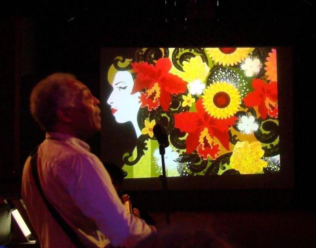 Exposição durante show Tono - Gilberto Gil. Espaço Tom Jobim - Rio de Janeiro - RJ