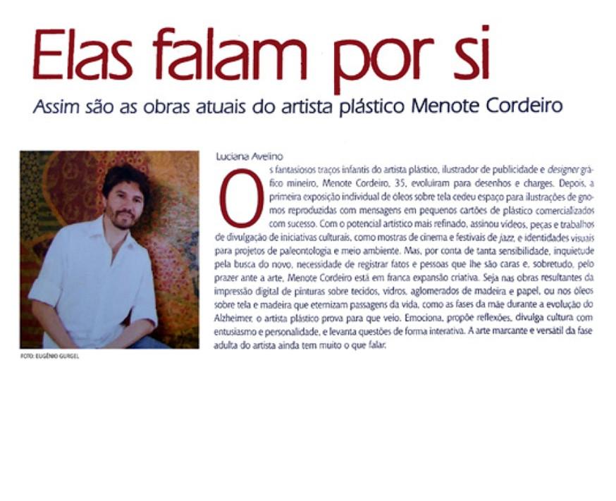 Entrevista para revista Encontro